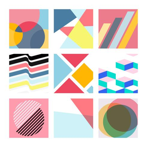 Veelkleurige Zwitserse grafische illustratiereeks