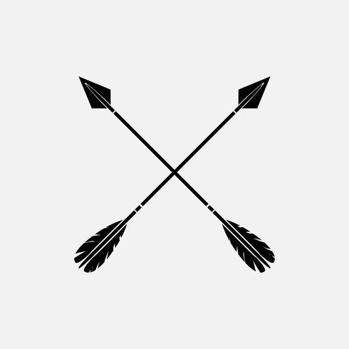 Vecteurs de flèche croisée élégant noir