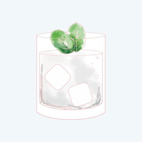 Vettore di una bevanda