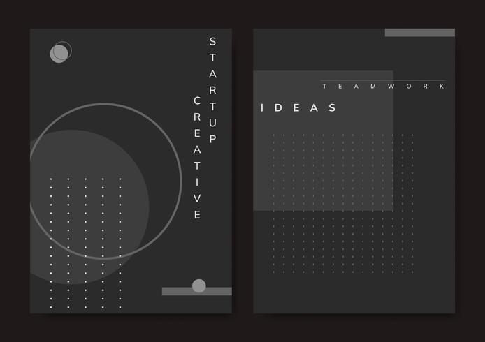 Ensemble de vecteur d'affiche minimal de conception Memphis