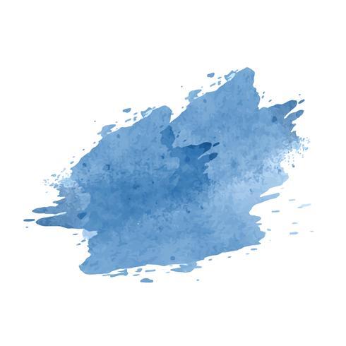 Vetor de splatter aquarela artística azul