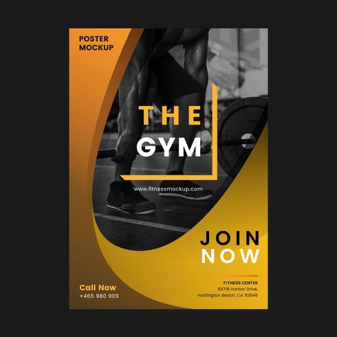 Le vecteur de l'affiche promotionnelle de gym