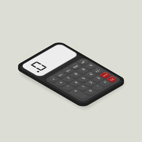 Image vectorielle de l'icône de la calculatrice
