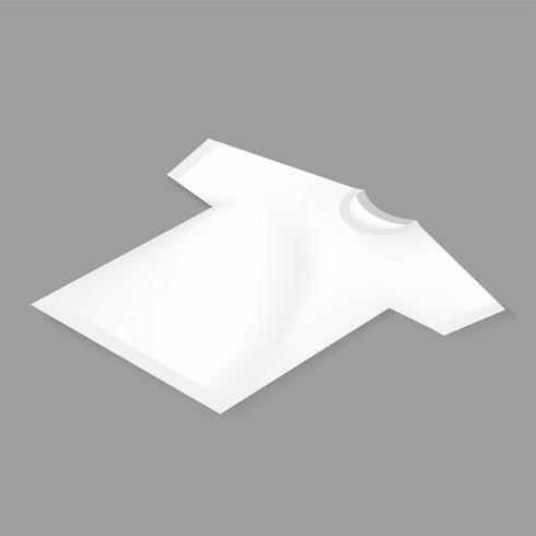 Icono de vector de maqueta de camiseta blanca en blanco