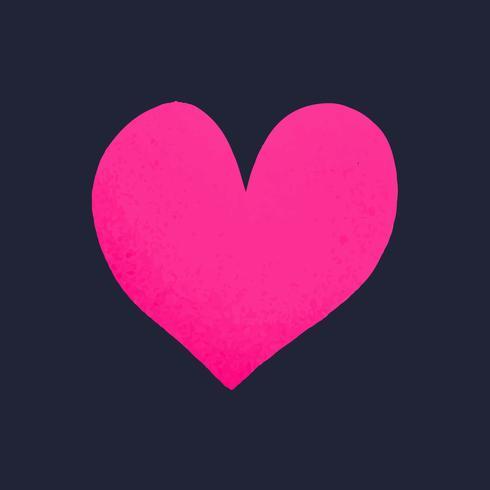 Coeur en forme de vecteur d'icône