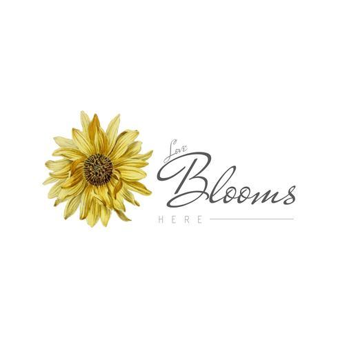 Insigne de fleur de tournesol