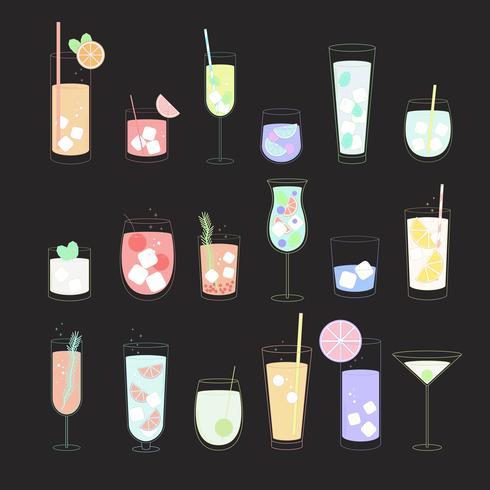 Vecteur d'une boisson