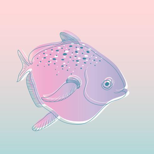 Vecteur de créatures sous-marines