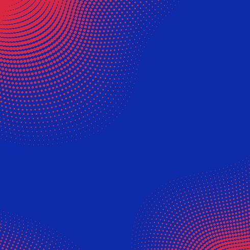 Roter und blauer Halbtonhintergrundvektor