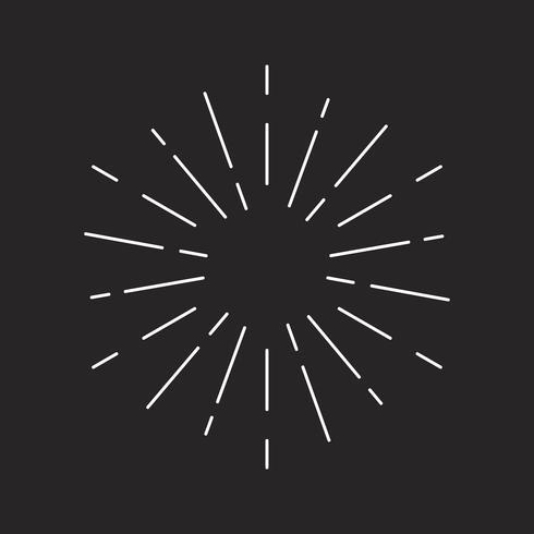 Diseño Sunburst en vector negro