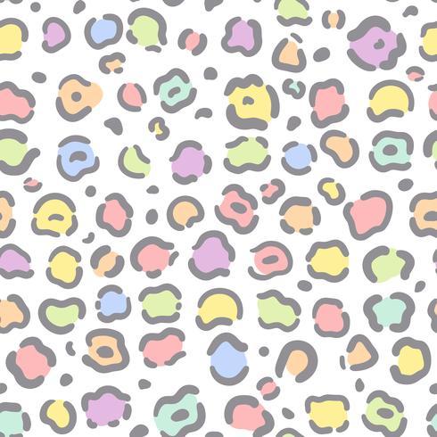 sömlös färgstark djur print mönster vektor