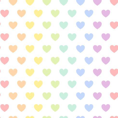 Vector de patrón de corazón colorido transparente