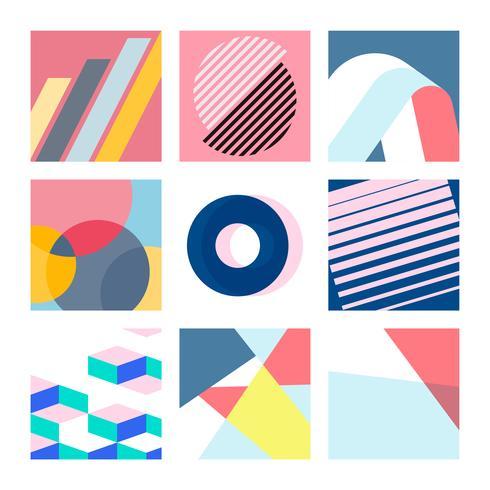 Set d'illustrations graphiques multicolores suisses