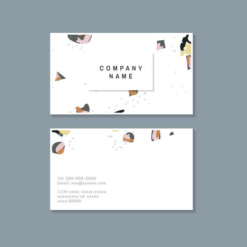 Colorful Terrazzo pattern business card vector