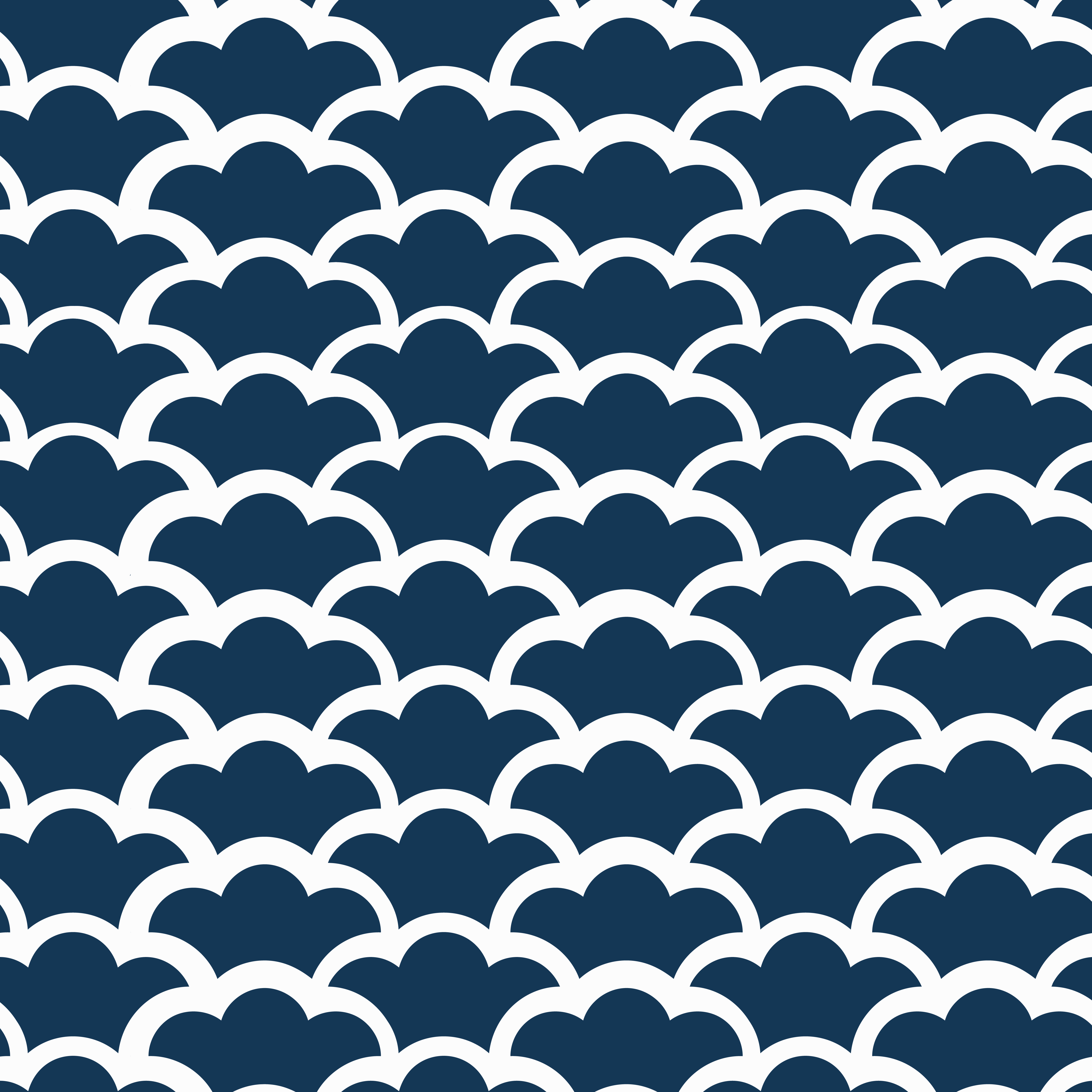 Seamless Japanese pattern with wave motif vector ...
