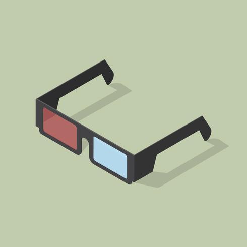 Vektor av 3D-glasikonen ikon