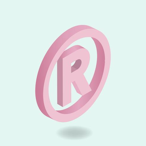 Imagem vetorial de ícone de marca registrada