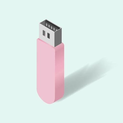 Vector of usb flash drive icon