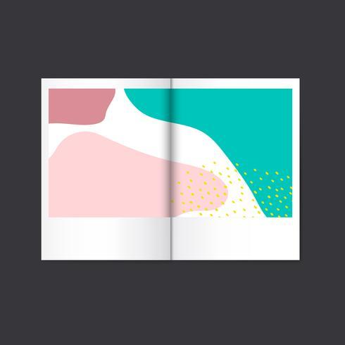 Vecteur de magazine de design coloré de Memphis