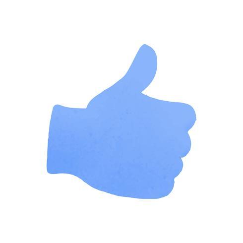 Pouce en l'air vecteur icône des médias sociaux