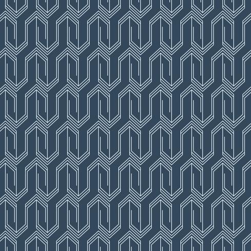 Minimales, indigo-gefärbtes geometrisches Muster