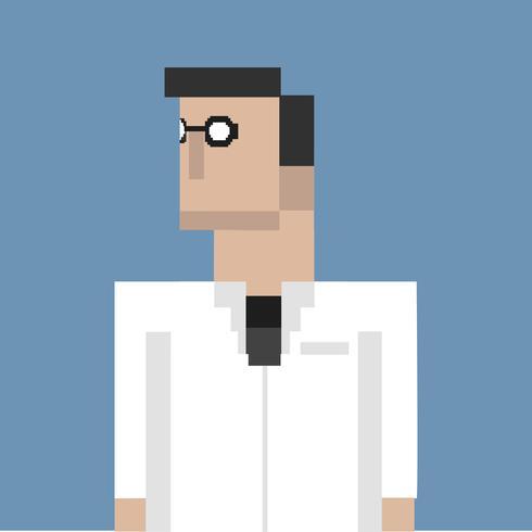 Pixel illustration av yrke