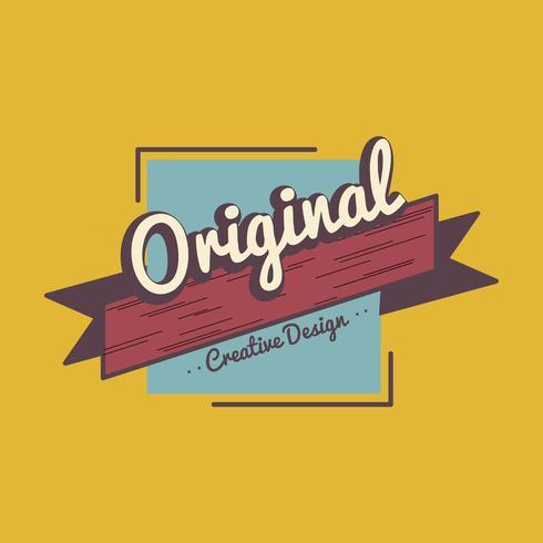 Original diseño creativo insignia vector