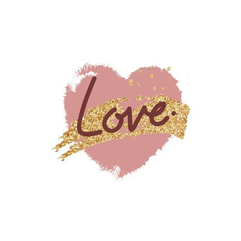 Diseño dulce de la tipografía del mensaje de la tarjeta del día de San Valentín