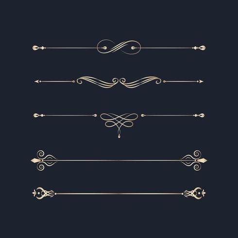 Elementi di design di turbinio d'epoca