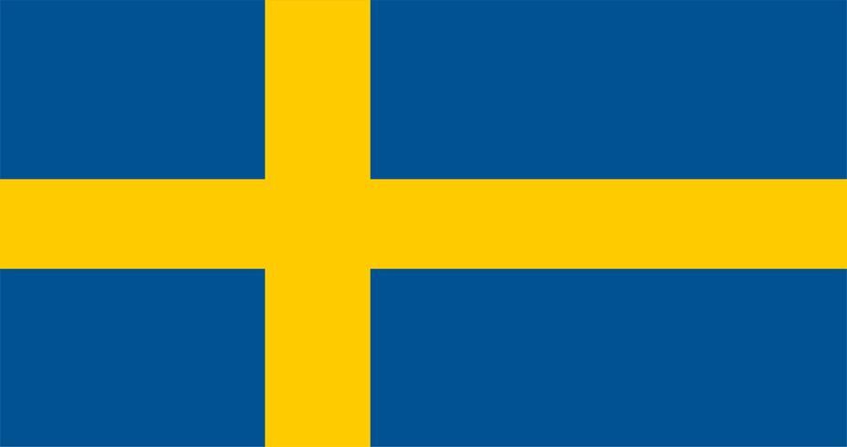 Illustration of Sweden flag
