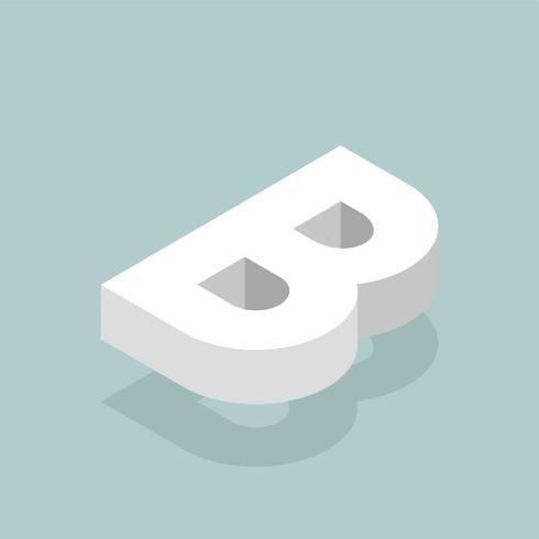 Icona di vettore della lettera B.