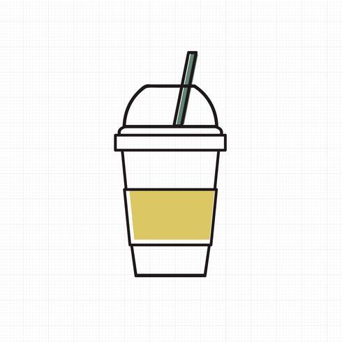 Vecteur d'icône coupe boisson froide