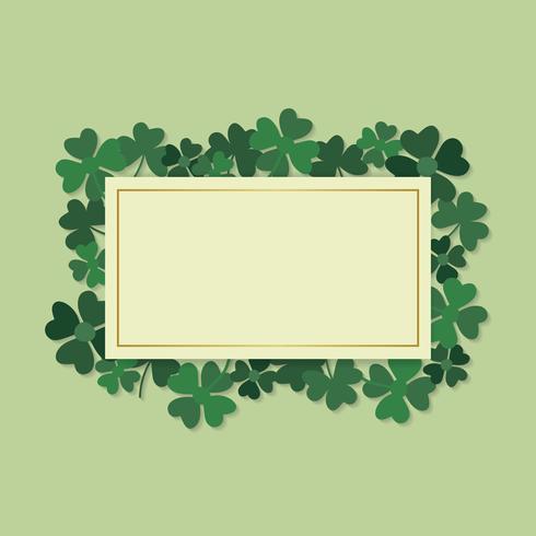 Clover framed card vector