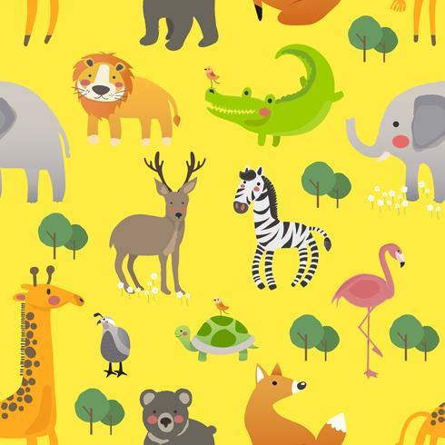 Dessins animés d'animaux de la faune