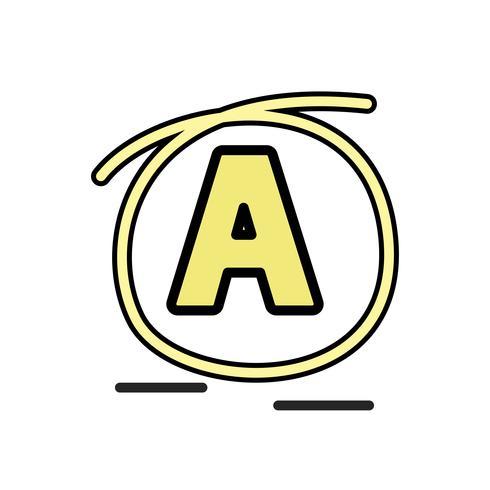 """Illustration de l'alphabet """"A"""""""