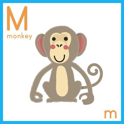 Abbildung des Alphabetbuchstaben mit Tierbild