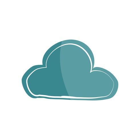 Ilustración del icono de la nube