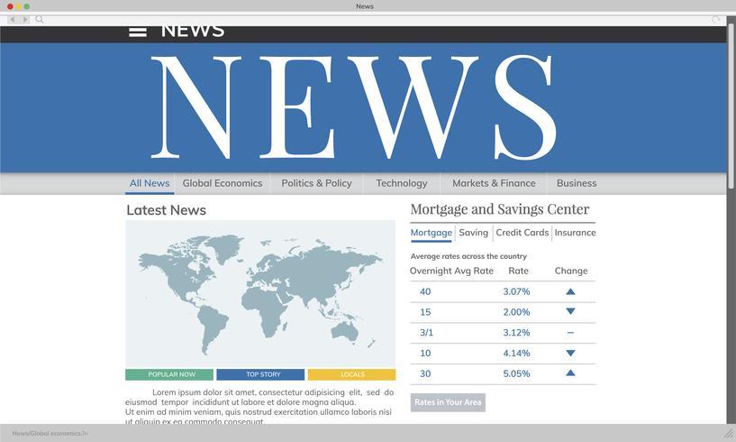 Illustration der aktuellen Nachrichten