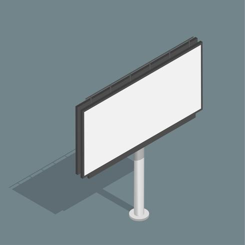 Vetor de ícone de publicidade de outdoor