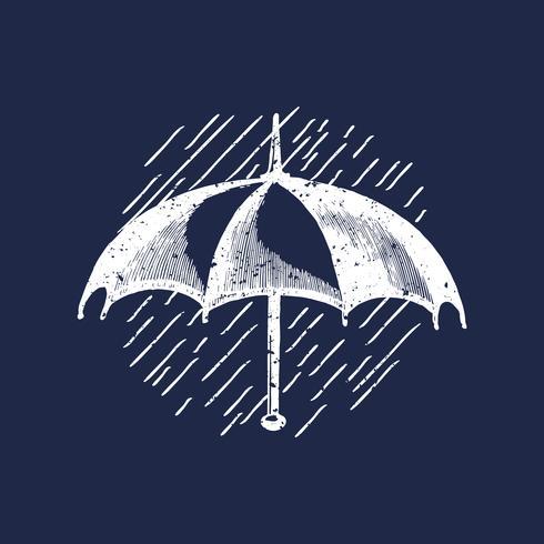 Classic umbrella logo illustration