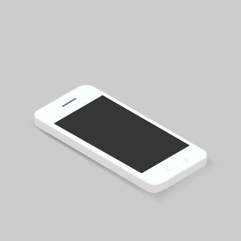 Vector de icono de teléfono inteligente 3D en el fondo
