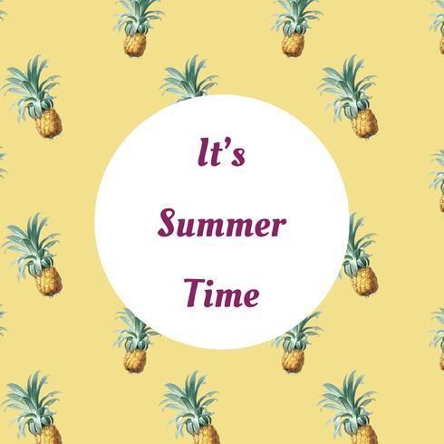 Tropische Sommermusterabbildung