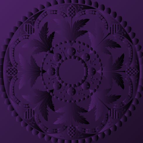 Disegno di mandala viola