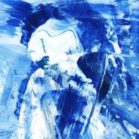 Indigo painted canvas