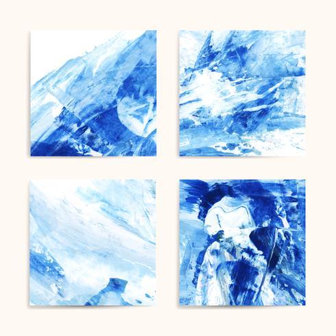 Pinturas abstractas de índigo