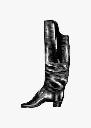 Diseño de zapato vintage