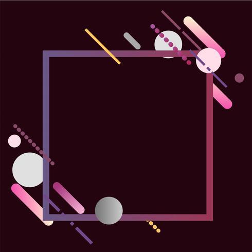 Bandera cuadrada moderna en la ilustración colorida del marco