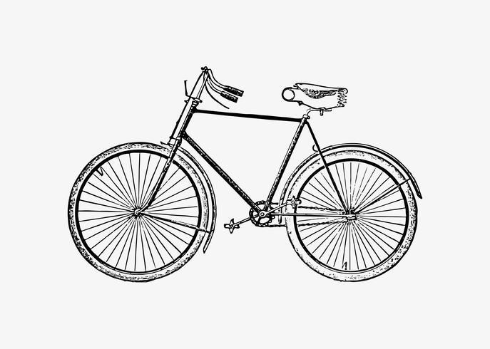 Bicicleta en estilo vintage