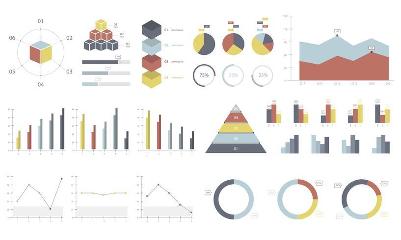 Stel elementen van infographic in