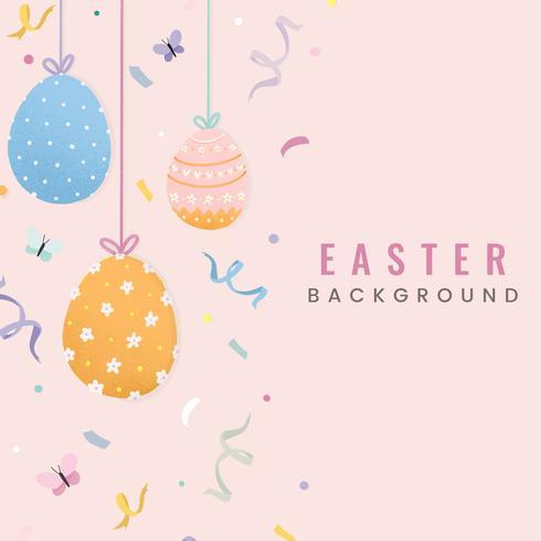 Diseño de tarjeta de feliz Pascua